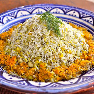 Persian Dill and Lima Bean Rice - Baghali Polo