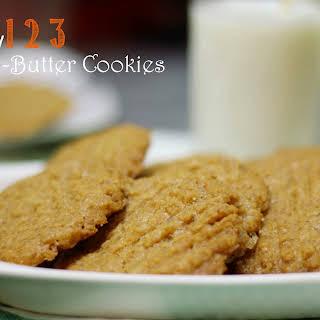 Easy 123 Peanut Butter Cookies.
