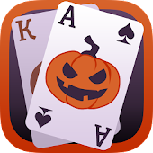 Solitaire Game. Halloween