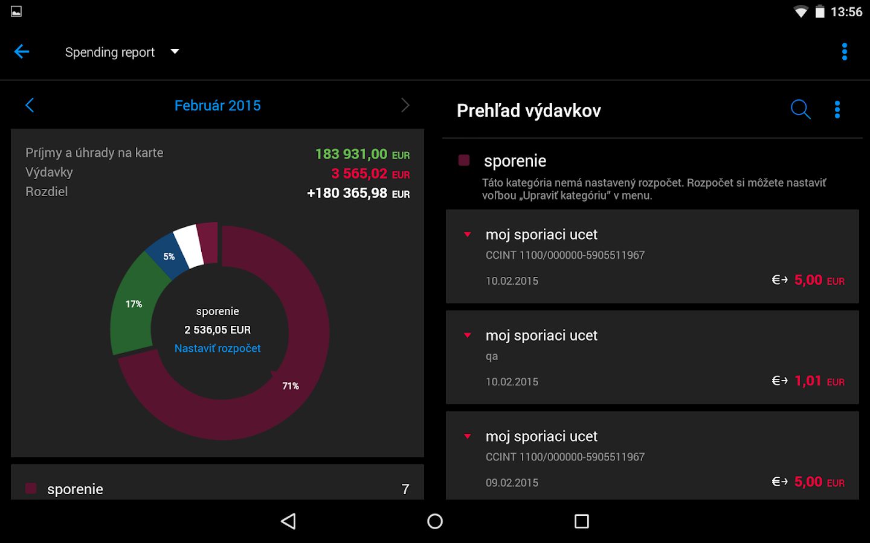 Tatra banka- screenshot