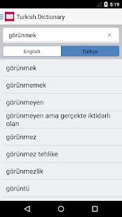 Turkish Dictionary ? English - Türk Translator - náhled