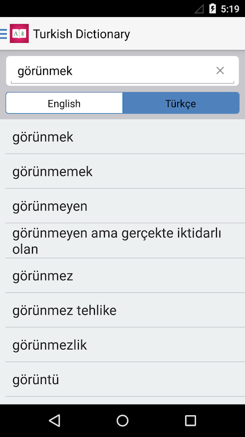 Turkish Dictionary 📖 English - Türk Translator- screenshot