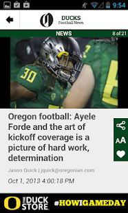 OregonLive: Ducks Football - screenshot thumbnail