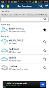 Weather Underground Older Vers - screenshot thumbnail
