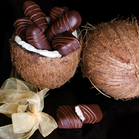 Bounty by Dejan Stanic - Food & Drink Candy & Dessert ( coconut, sweets, chocolate candy, delicious, homemade, chocolate bar, tasty, bounty, candy, dark chocolate, food, coconut filling, milky, dessert, treat, sweet )