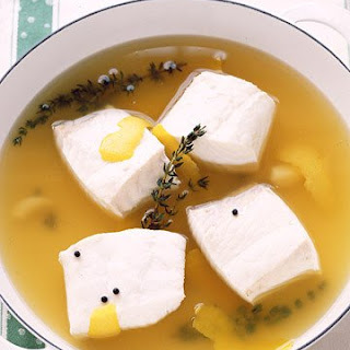Poached Halibut in Lemon-Thyme Broth