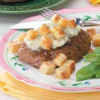 Beef Steaks With Blue Cheese.