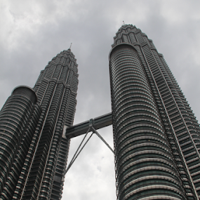 KL Twin tower view from below by Timmothy Tjandra - Buildings & Architecture Architectural Detail (  )