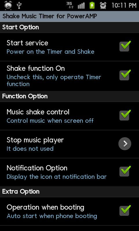 PowerAMP ShakeMusicTimer Trial - screenshot