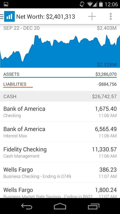 Personal Capital Finance - screenshot