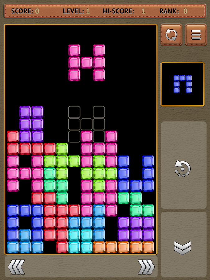 Falling blocks tetris - screenshot