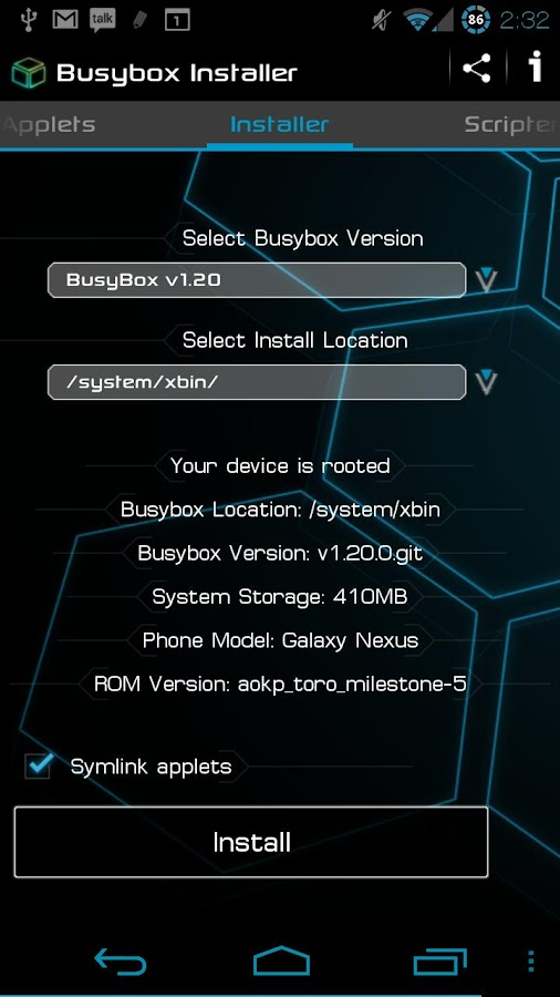 BusyBox Installer - screenshot