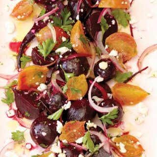 Bi-Rite Market's Roasted Beet Salad with Pickled Onions and Feta.