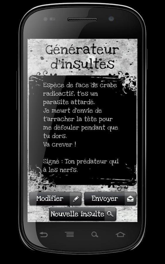 Générateur d'insultes- screenshot