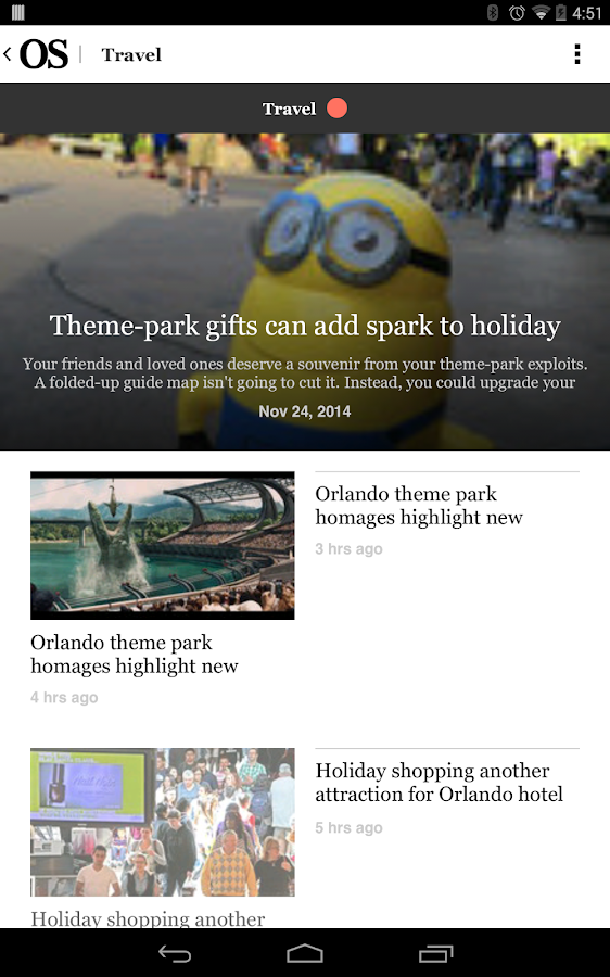 Orlando Sentinel - screenshot