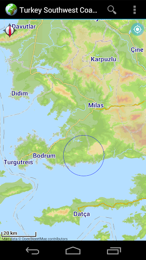 Offline Map SW-Coast of Turkey