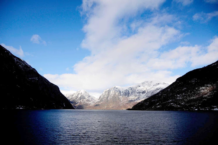 The Sognefjord is the largest fjord in Norway, and the second longest in the world.