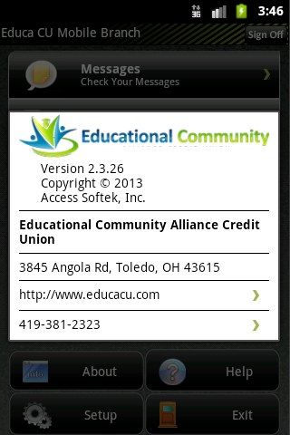 EduCa CU Mobile Banking - screenshot