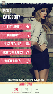 Taylor Swift Greeting Cards - screenshot thumbnail