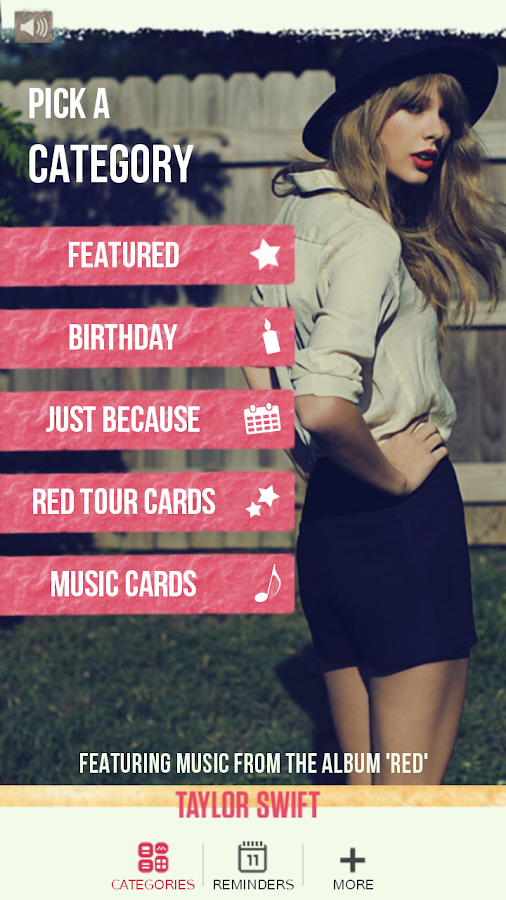 Taylor Swift Greeting Cards - screenshot