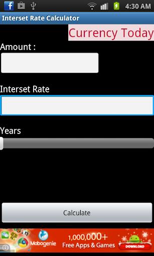 Interset Rate Calculator
