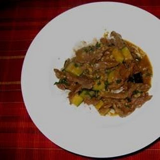 Deb's Spicy Beef Curry.