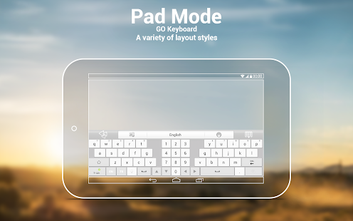 GO Keyboard Plugin- Tablet,Pad - screenshot thumbnail