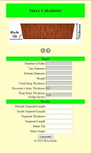 Woodturning Stave Calculator- screenshot thumbnail