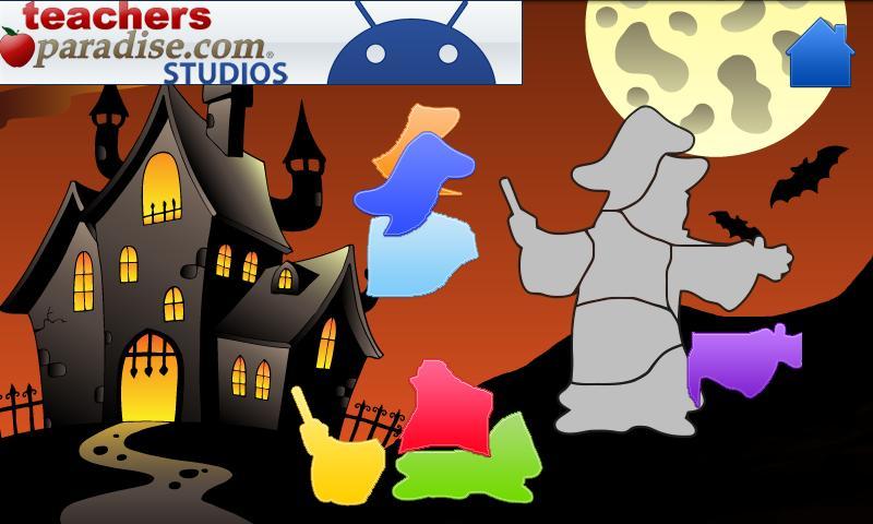 Happy Halloween Shape Puzzles- screenshot