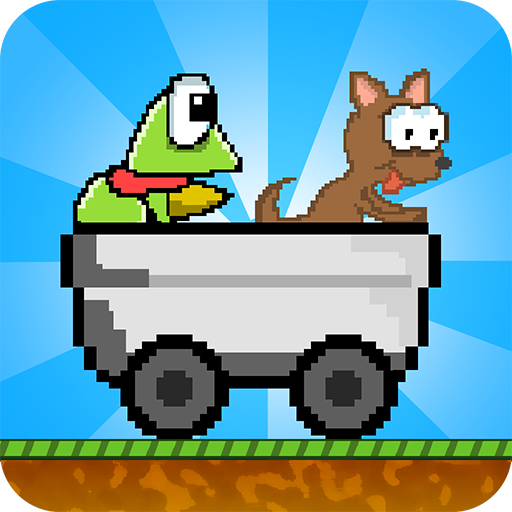 Hoppy Cart Puppy And Frog Ride