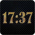 Gold digital clock icon