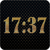 Gold digital clock