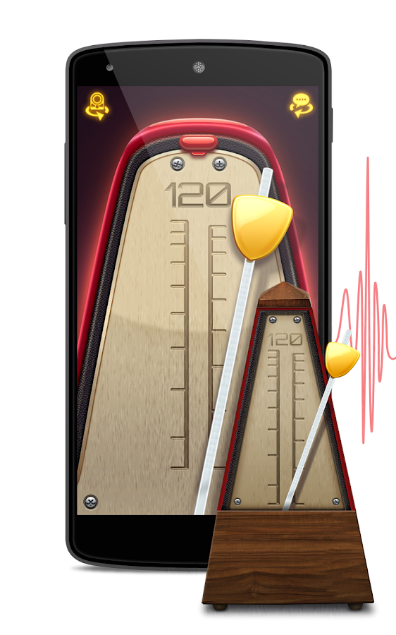 Real Metronome for Guitar, Drums & Piano for Free- screenshot