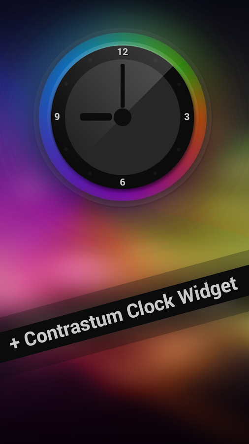 Next Launcher Theme Contrastum - screenshot
