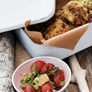 "Millet ""Falafel"" with Avocado + Tomato Relish."