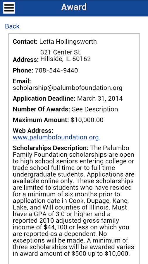 Scholarships.com - screenshot