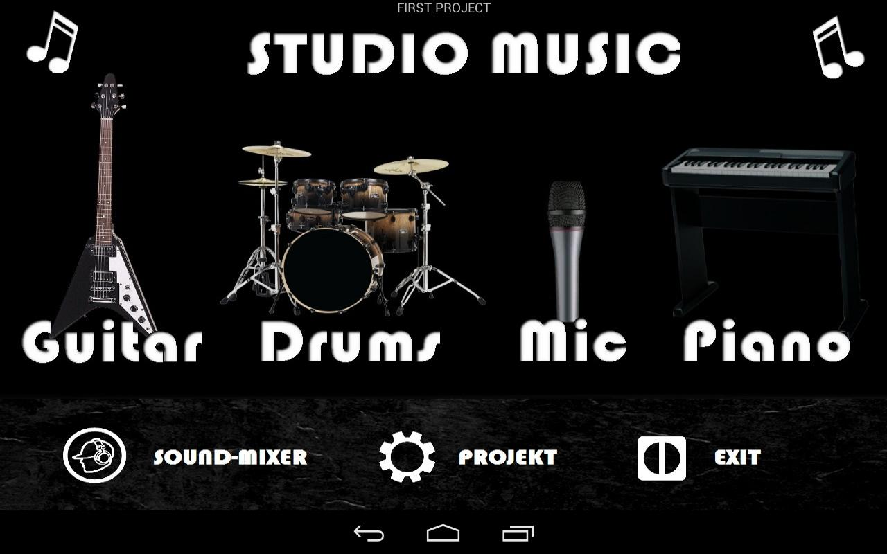 Studio music - garage band- screenshot