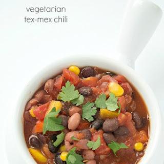 Vegetarian Tex Mex Chili.