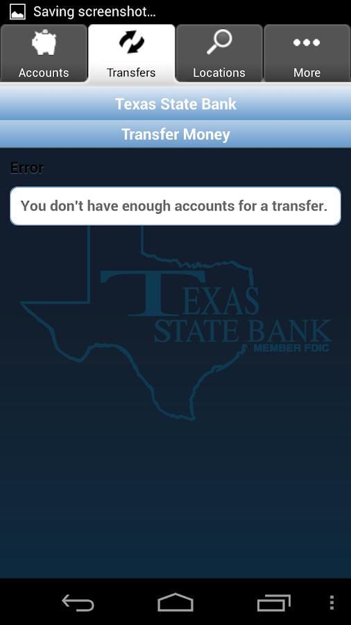Texas State Bank Mobile Money- screenshot