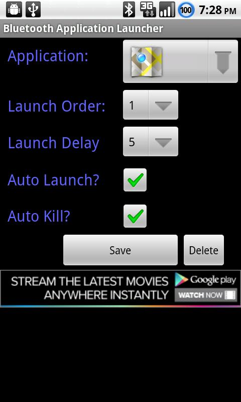 Bluetooth App. Launcher (Free) - screenshot