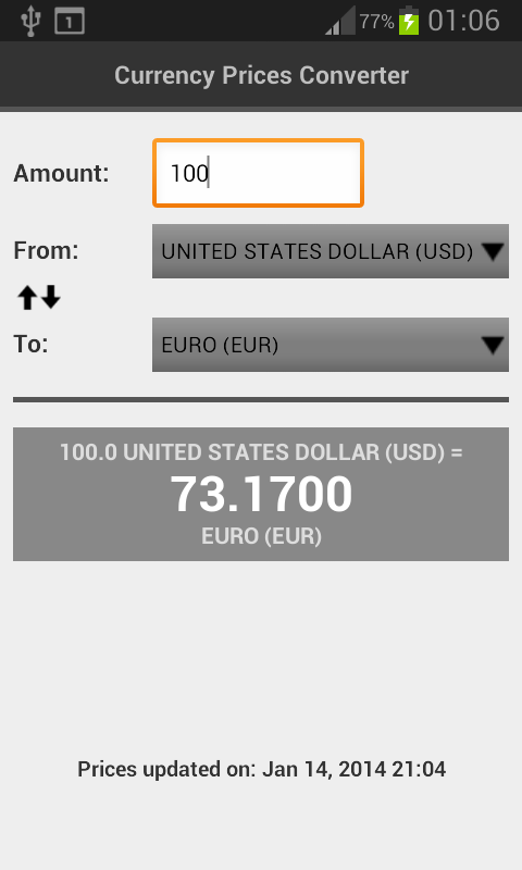 Currency Prices Converter Free - screenshot