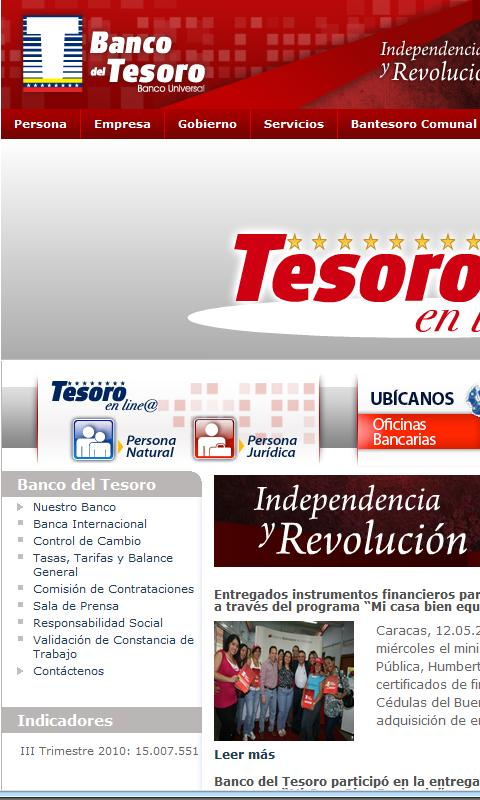 Banco del Tesoro - screenshot
