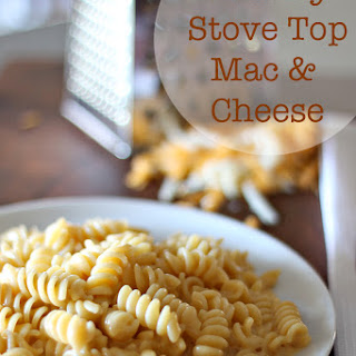 Creamy Stove Top Mac and Cheese.