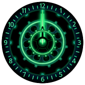 10 Green Neon Clocks