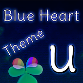 GO Launcher Blue Heart Theme