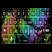 Rainbow Splatter Keyboard Skin
