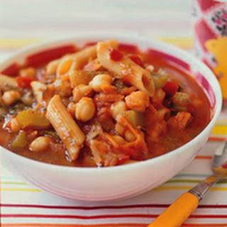 Tomato-Vegetable-Pasta Stoup