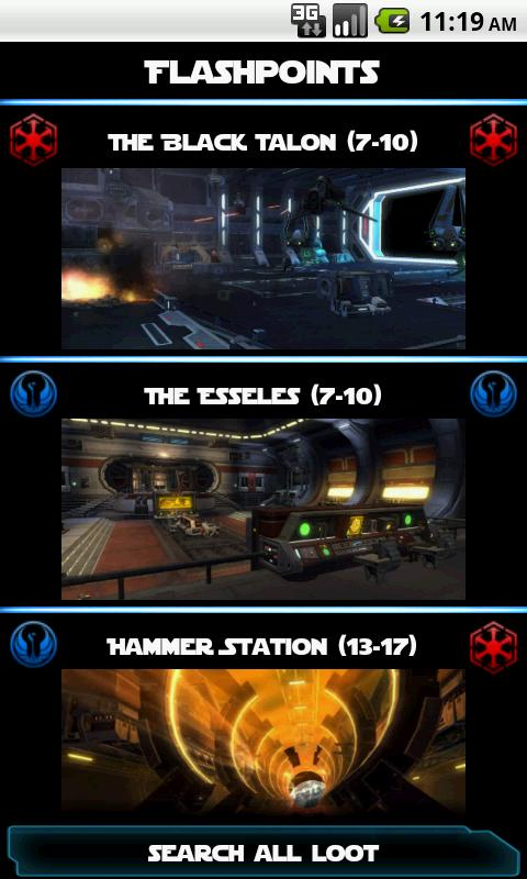 SWTOR Flashpoint Companion- screenshot