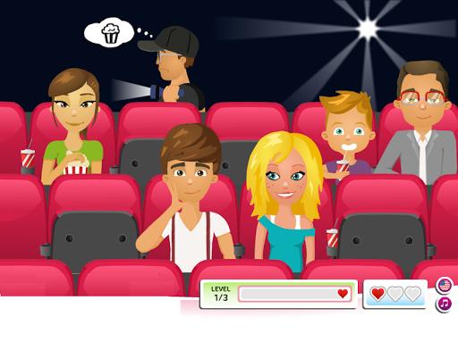 เกมส์จูบกัน ในโรงหนัง