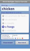 Screenshot of Brazilian Audio FlashCards